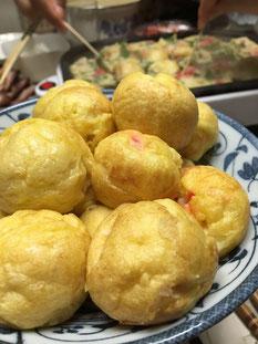 芦田ポートリーの卵で明石焼き