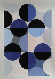Ellen Roß, konkrete Kunst, geometrisch, squares, circles