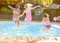 Zu Hause am Pool