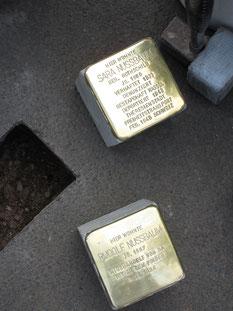 Die Steine kurz vor der Verlegung
