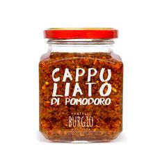 Tomate secado al sol, picado y aromatizado con hierbas aromaticas en bote de 200gr (Burgio-Sicilia) 8,50€
