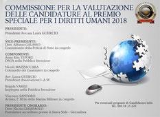 """Nomina di Componente della Commissione per la valutazione delle candidature Premio """"Diritti Umani"""""""