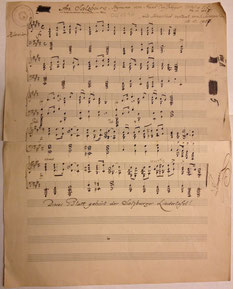 Originalnoten Salzburger Landeshymne