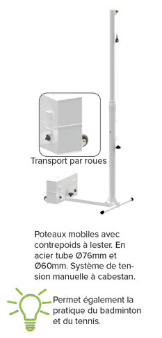 volley poteaux mobiles