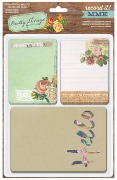 Uk stockist MME Record I! Pocket Journaling cards