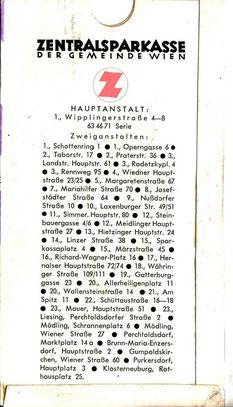 Sparkassenbuch-Hülle (1958/59).