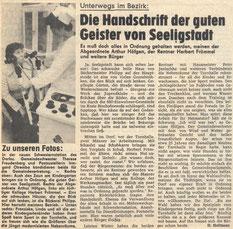 Bild: Teichler Seeligstadt Chronik 1894