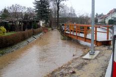 Bild: Teichler Seeligstadt Hochwasser