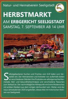 Bild: Seeligstadt Chronik 2019 Herbstmarkt HV
