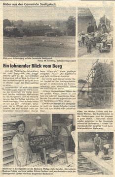 Bild: Seeligstadt Chronik 1989