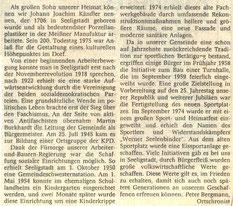 Bild: Teichler Seeligstadt Chronik 1987