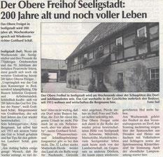 Bild: Seeligstadt Chronik 1998