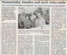 Bild: Teichler Seeligstadt Chronik 2011
