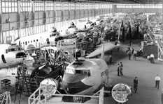 The booming DC-3 line at Cartierville circa 1946.