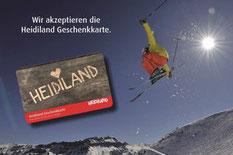 Heidiland Geschenkkarte