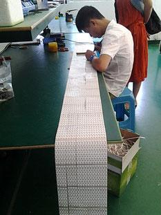 Herstellung der 5m Streifen