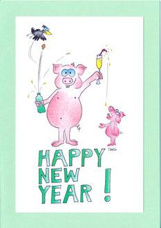 Sommerkafi Sool Neujahrskarte
