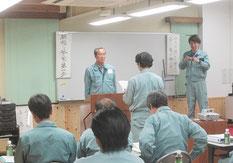 社員を代表し、田辺さんが決意発表をしました。