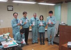 優秀社員賞は、原口さん、田辺さん、佐藤さん、小林さん、村上さん、市川さん