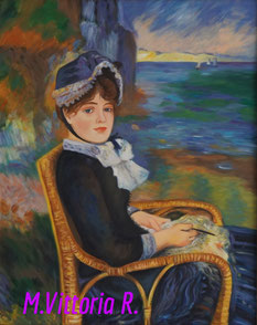 A. Renoir, in the river of the sea, oil on canvas cm 40x50, 2015