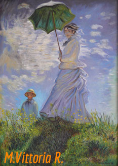 WOMAN WITH PARASOL, C. MONET, OIL ON CANVAS, CM 50X70, 2014
