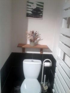 WC des sanitaires en commun aux deux chambres