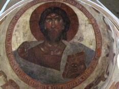 Христос Пантократор. Фреска Феофана Грека в церкви Спаса Преображения на Ильине улице