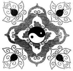 Union du yang et du yin dans le Tai-ki.