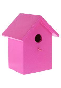 Dekoratives Vogelhaus in neonpink von Bloomingville   Zalando 24,95€