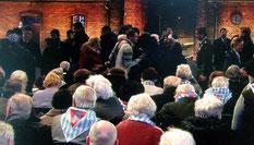 2015年、招かれて出席した「アウシュヴィッツ解放70周年記念式典」