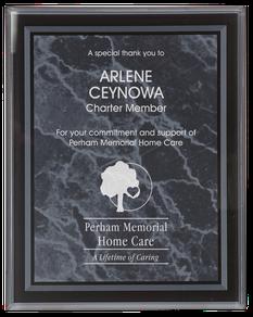 marble acrylic plaque
