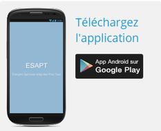 Lien de téléchargement de l'appli android sur Google Play