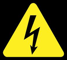 pictogramme de signalisation des risques électriques
