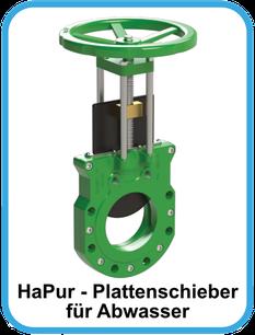 HaPur Plattenschieber für Abwasser