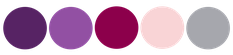 paleta de colores para bodas en morado borgoña plateado y rosado