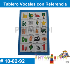 Tablero Vocales con Referencia MATERIAL DIDACTICO MADERA INTQUIETOYS PRIMERDI
