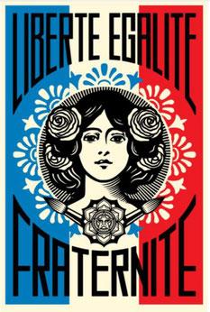 Shepard Fairey,Liberte Egalite Fraternite 2018