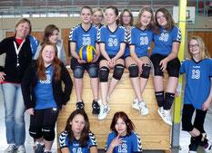 Die Mädels vom Team Schaumburg U 15 mit Trainerin Karin Gassner