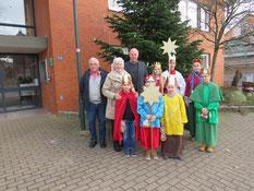 © St. Marien/Sternsinger bei Bürgermeister Dr. Jens Bülthuis in Bispingen