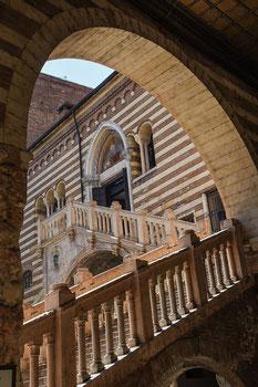Scala della Ragione, Treppe der Vernunft, Verona, Italien