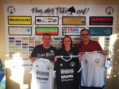 Gary Seifert, Ricarda Seifert und Gordon Granderath (von links) verstärken das Team.