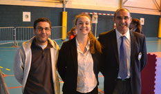 Les 3 arbitres du club: Momo, Chloé et Philippe