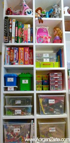 juegos juguetes organiza niños ordenar cajas www.AorganiZarte.com