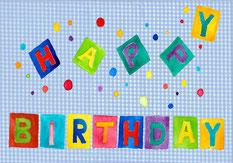 Grußkarte Geburtstag Happy Birthday