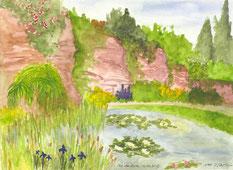 Grußkarte Killesberg Park Tal der Rosen
