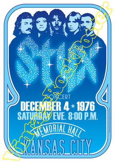 styx, styx poster, styx concert, styx kansas