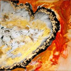 """© Nathalie Arun, 20 x 20 """"le coeur brisé"""" 2015"""
