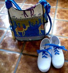 meine blaue Tasche