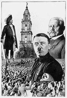 """Das Deutsche Volk und seine Verführer; Fotocollage zum """"Tag von Potsdam"""" am 21. März 1933"""