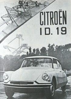 Photographie ID19 devant l'Atonium en1958